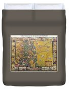 Historical Map Of Early Colorado Duvet Cover