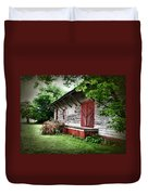 Historical Train Station In Belle Mina Alabama Duvet Cover
