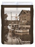 Historical Waterfront  Duvet Cover