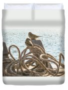 Hitching A Ride Duvet Cover