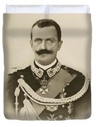 H.m. Victor Emmanuel IIi Of Italy Duvet Cover