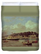 Hm Yacht Victoria Duvet Cover by George Gregory