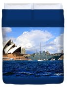 Hmas Adelaide Helps Sydney Celebrate Duvet Cover