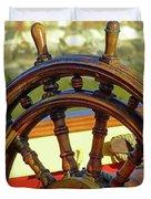 Hms Bounty Wheel Duvet Cover