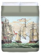 Hms Shannon Vs The American Chesapeake Duvet Cover