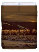 Hoar Frost In Dawn's Light Duvet Cover