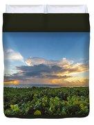 Hobe Sound Beach Sunrise Duvet Cover
