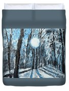 Hochleite In January Duvet Cover