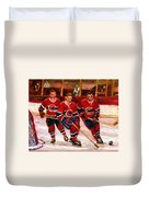 Hockey At The Forum Duvet Cover