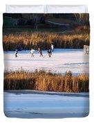 Hockey Game Duvet Cover