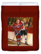Hockey Stars At The Forum Duvet Cover