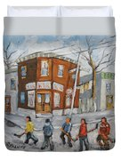 Hockey Town Montreal Created By Prankearts Duvet Cover