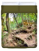Hocking Hills Ohio Old Man's Gorge Trail Duvet Cover