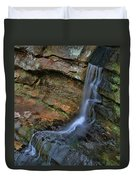 Hocking Hills State Park Small Waterfall Duvet Cover