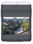 Hoi An Rooftops 01 Duvet Cover