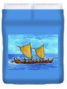Hokulea Hawaiian Ocean Going Outrigger Canoe #49 Duvet Cover