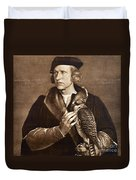 Holbein: Falconer, 1533 Duvet Cover