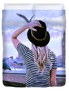 Hold Onto Your Hat Duvet Cover