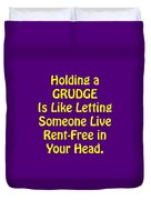 Holding A Grudge Is Like 5438.02 Duvet Cover