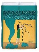 Holding Back The Flood Duvet Cover