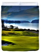 Hole #17 At Chambers Bay Duvet Cover