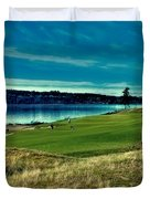 Hole #2 At Chambers Bay Duvet Cover