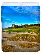 Hole #3 At Chambers Bay Duvet Cover