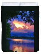 Hole In The Sky Sunset Duvet Cover