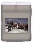 Hole In The Wall Mindscape Duvet Cover