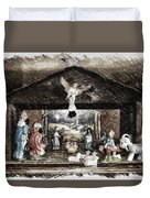 Holiday Christmas Manger Pa 01 Duvet Cover