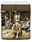 Holiday Christmas Manger Pa 02 Duvet Cover