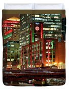Holiday Colors Along Chicago River Duvet Cover