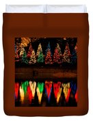 Holiday Evergreen Reflections Duvet Cover