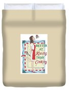 Holiday Kissing Cooking Duvet Cover