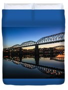 Holiday Lights Chattanooga #3 Duvet Cover