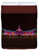 Holiday Lights Of The Denver City And County Building Duvet Cover