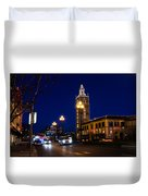 Holiday On The Plaza Duvet Cover