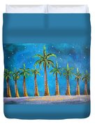 Holiday Palms Duvet Cover