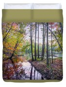 Holiday Park Lake At Dusk Duvet Cover