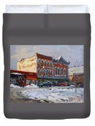 Holiday Shopping In Tonawanda Duvet Cover