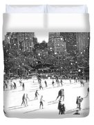 Holiday Skaters Duvet Cover