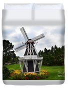 Holland Grey Windmill  Duvet Cover