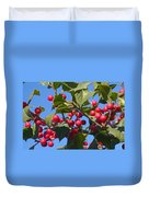 Holly Berries On A Wintry Day I Duvet Cover