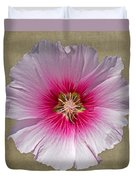 Hollyhock On Linen 2 Duvet Cover
