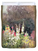 Hollyhocks Duvet Cover