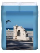 Hollywood Beach Wall In Color Duvet Cover