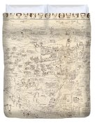 Hollywood Map To The Stars 1937 Duvet Cover