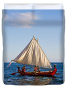 Holokai - Pacific Islander Sailing Canoe Duvet Cover