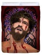 Holy Face Of Ecce Homo Duvet Cover