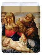 Holy Family With Two Female Figures Duvet Cover
